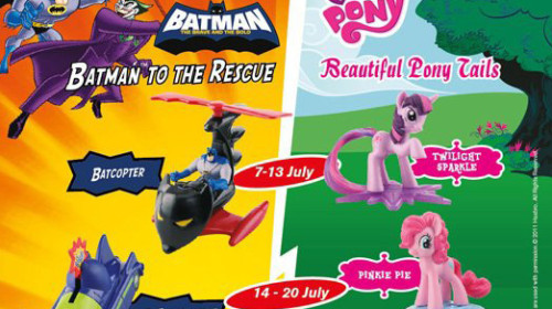 "McD Happy Meal ""Batman To The Rescue & Beautiful Pony Tails"" toys"