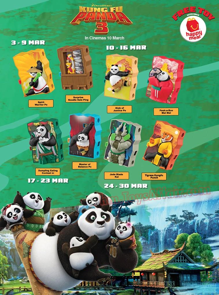 Kung Fu Panda 3 Happy Meal Toys