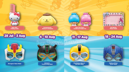 Sanrio Characters & Transformers Mask