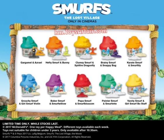 happy-meal-toys-australia-smurfs-lost-village