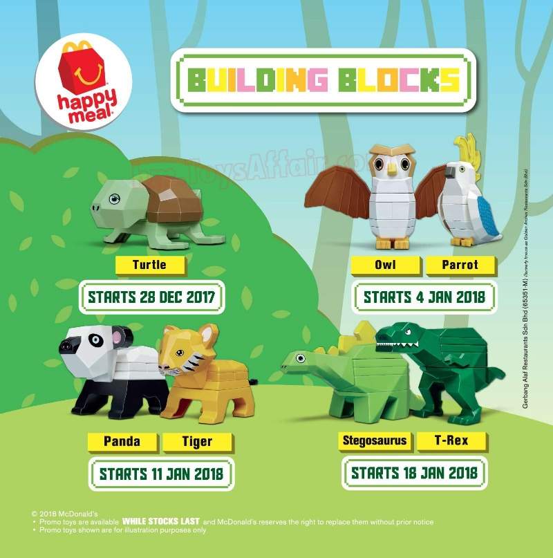 Toys From Mcdonald S Happy Meals : Building blocks happy meal toys