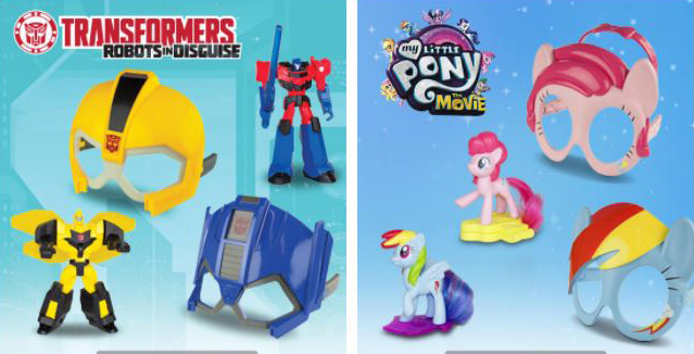 Transformers Robots & My Little Pony – Happy Meal Toys